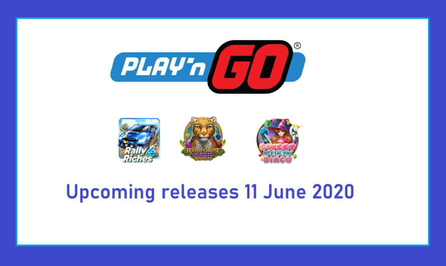 3 Play'n Go Games to be released on June 11, 2020.