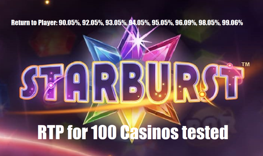 Starburst RTP test on 100 Casinos