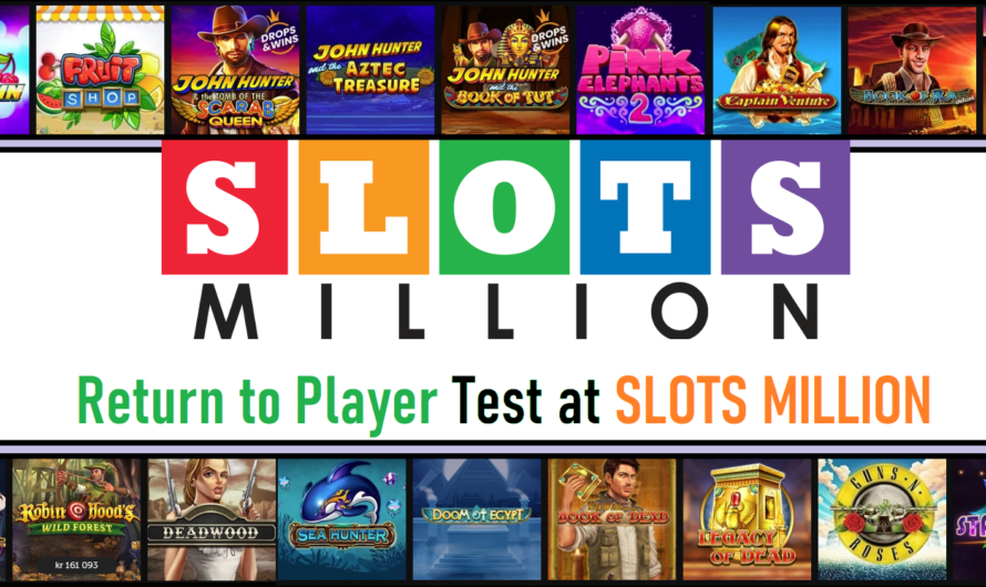 Return to Player test at Slots Million