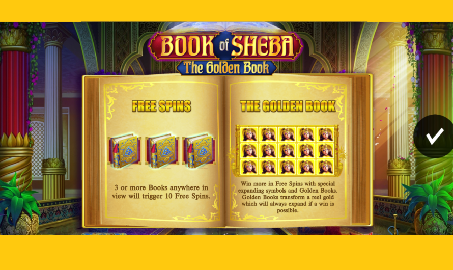 Book of Sheba Golden Book from iSoftBet