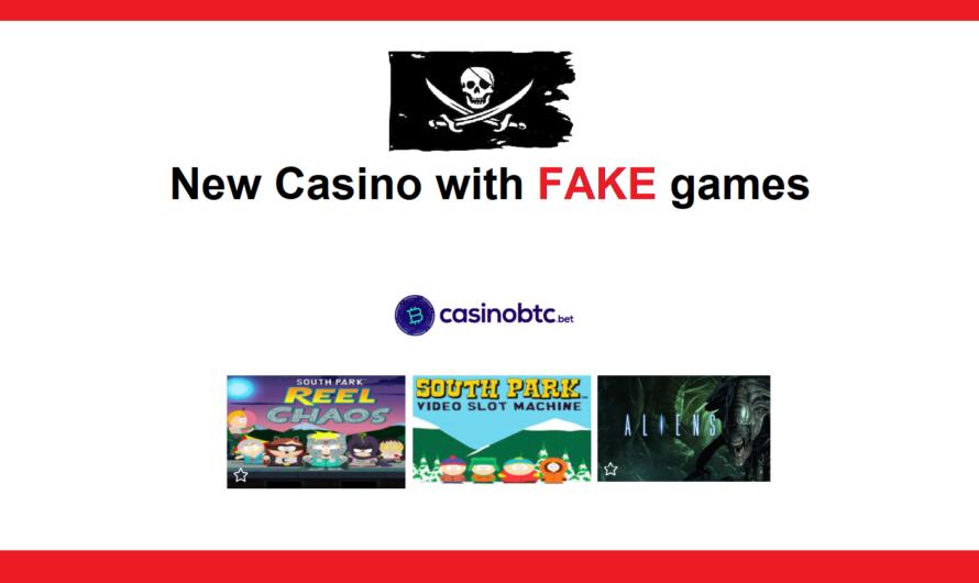CasinoBTC.bet using FAKE games