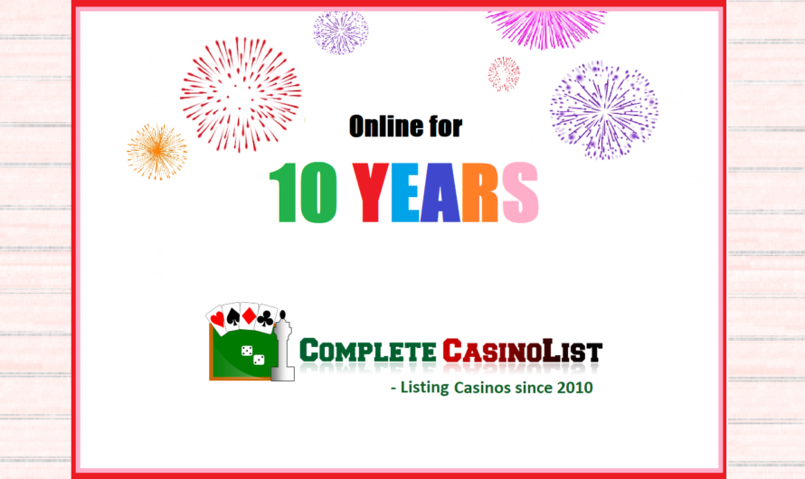 10 years of Complete Casino List