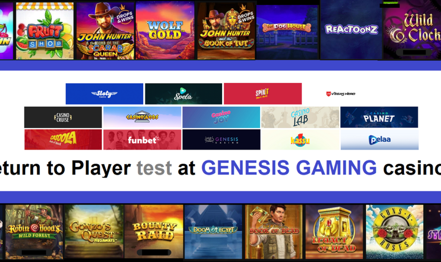 Return to Player test at Genesis Gaming Casinos
