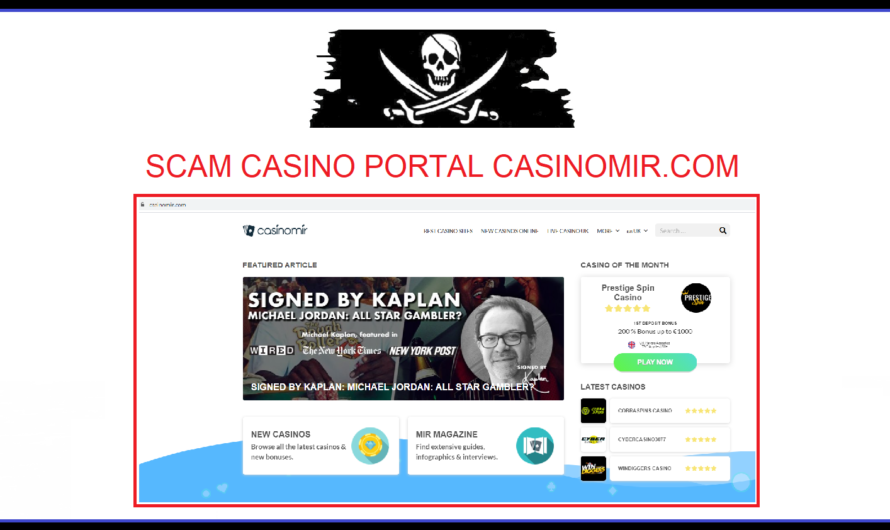 FAKE casino portal CASINOMIR