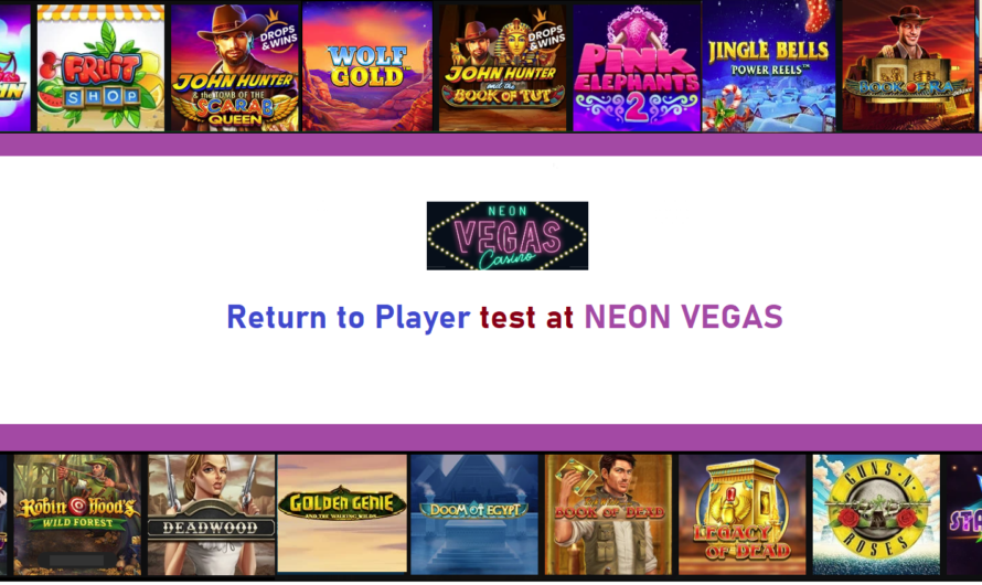 Return to Player test at Neon Vegas