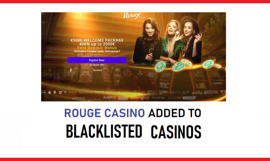 Rouge Casino Blacklisted