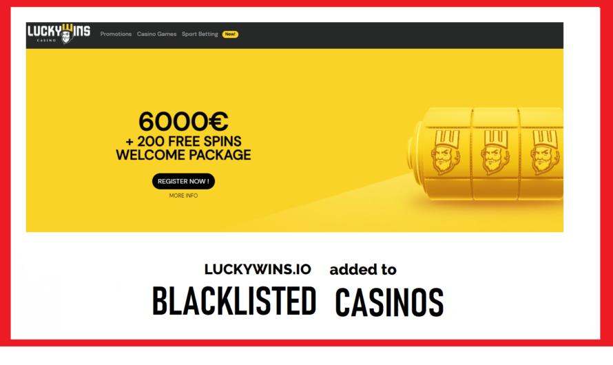 LuckyWins.io Blacklisted
