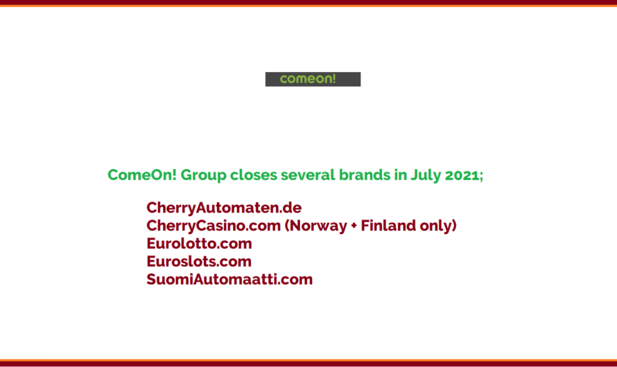 ComeOn group close several brands