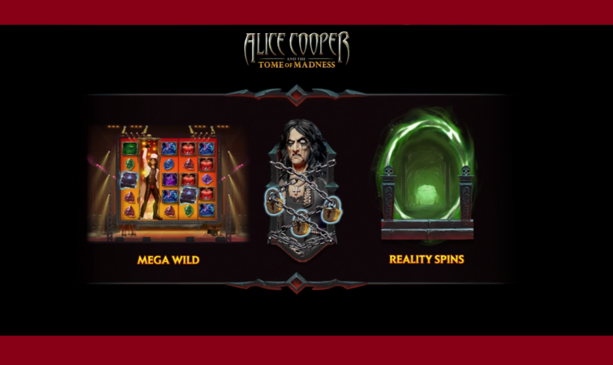 Alice Cooper and The Tome of Madness from Play'n GO